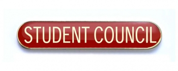 Tube Badge 'STUDENT COUNCIL' Red (Pk. 5)