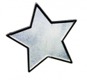 Enamel Badge Silver Star (Singles)