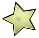 Enamel Badge Gold Star (Singles)