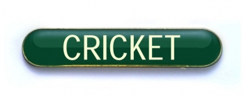 Tube Badge 'CRICKET' Green (Pk. 5)