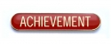 Tube Enamel Badge 'ACHEIVEMENT' Red (Pk. 5)