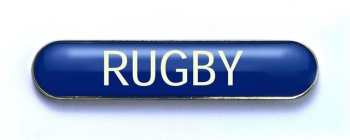 Tube Badge 'RUGBY' Blue (Pk. 5)