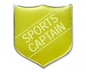 Shield Badge 'SPORTS CAPTAIN' Yellow (Pk. 5)