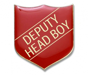 Shield Badge 'DEPUTY HEAD BOY' Red (Pk. 5)