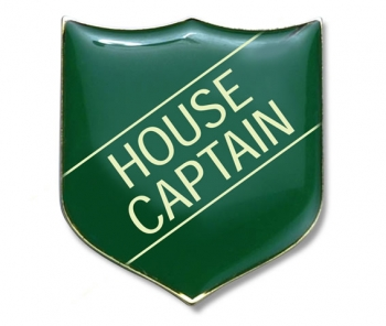 Shield Badge 'HOUSE CAPTAIN' Green (Pk. 5)